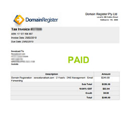 Australia domain name scammer scam fraud